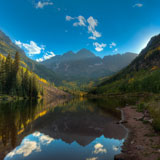 Maroon Bells (Colorado mountains with a lake in the foreground)
