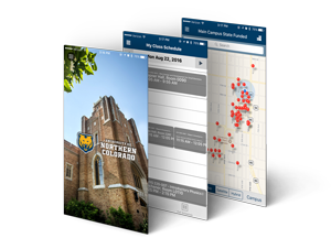 UNC Mobile App screenshots