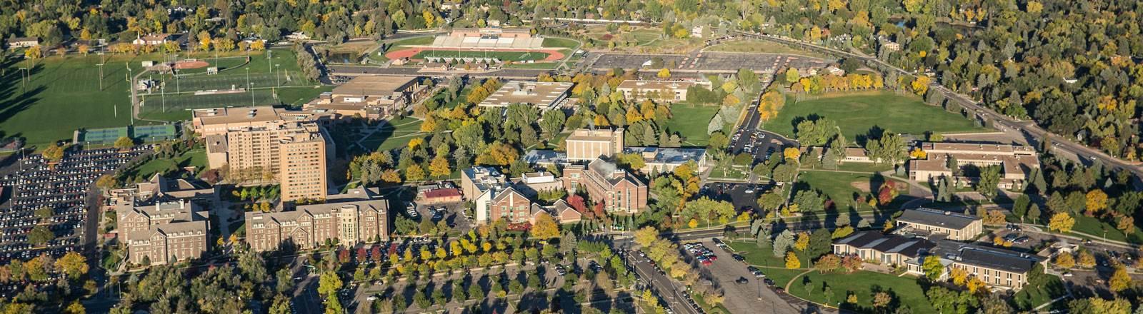 UNC aerial view