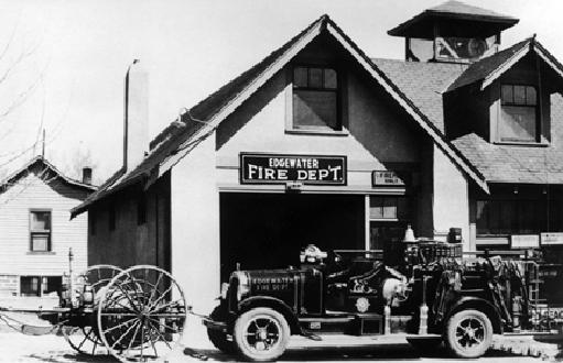 An Edgewater Fire Engine