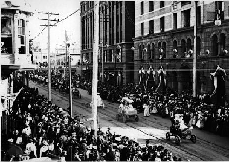 Autos In a 1901 Denver Parade