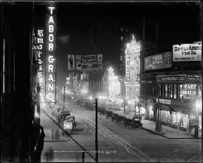 """Denver's """"Moving Picture Row""""- 1913"""