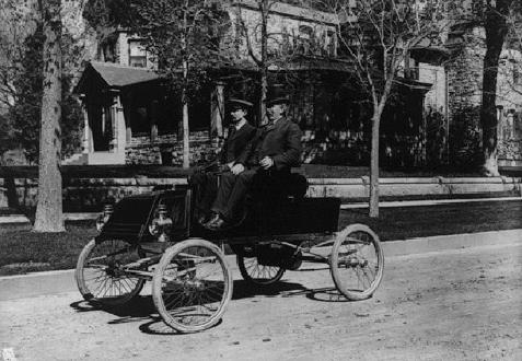 One Of Denver's First Automobiles