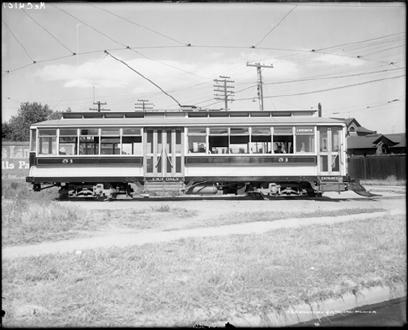 "Trolley Car On a ""Roundabout"""