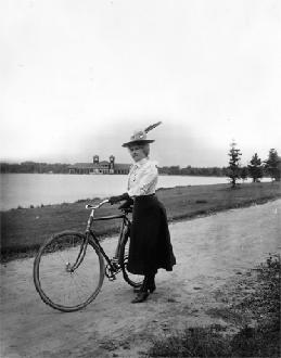 Woman With Bicycle