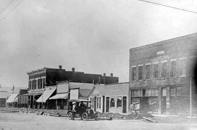 Main Street In Akron, Colorado (1912)