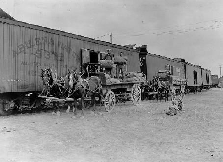 Loading a Railroad Boxcar