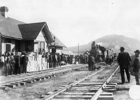 Train Arriving In Paonia