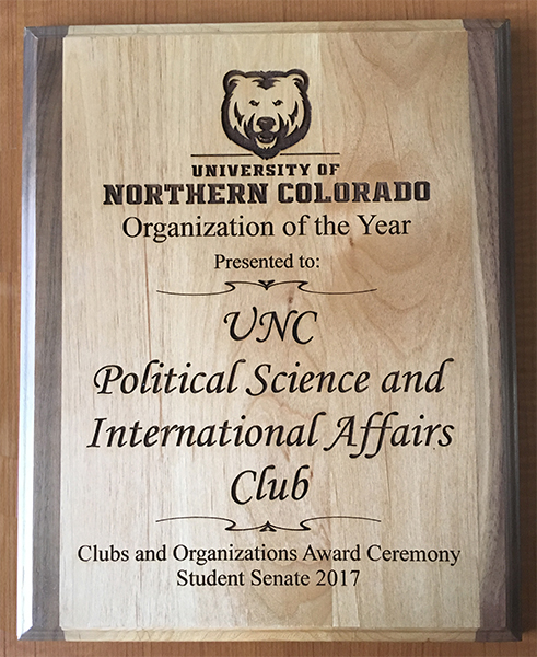club award plaque