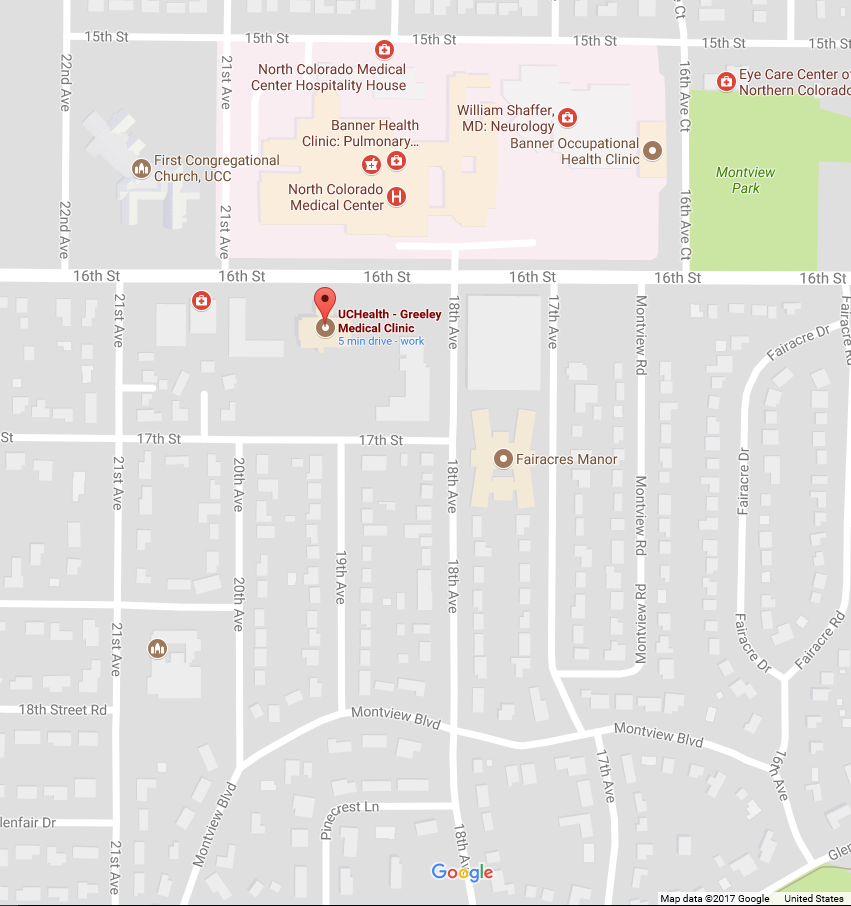 UC Health Map