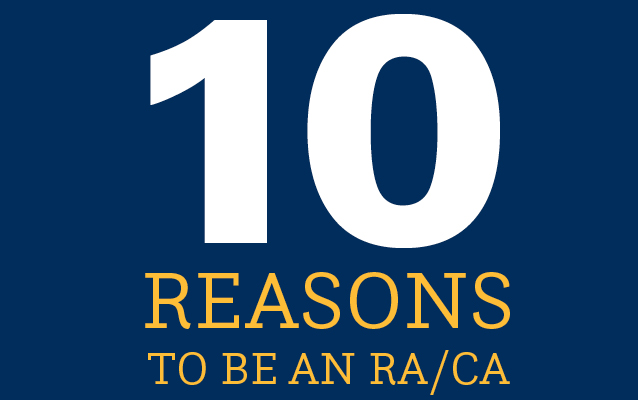 10 Reasons to be an RA