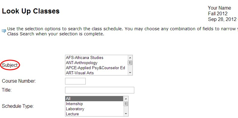 Look up classes