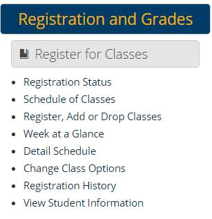 Registration and Grades