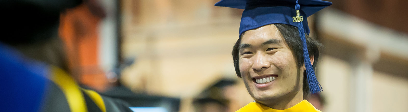 International student at commencement