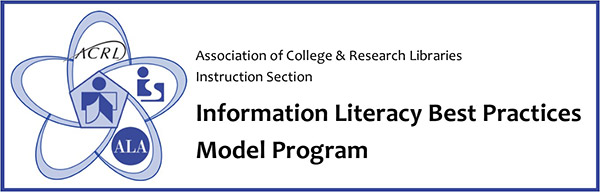 Association of College and Research Libraries Instruction Section Information Literacy Best Practices Model Program badge