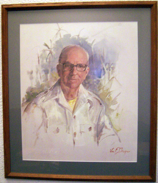 James A. Michener, watercolor