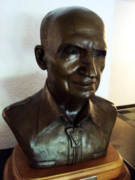 James A. Michener, bust