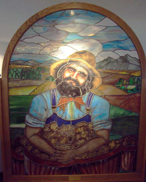 Potato Brumbaugh, stained glass