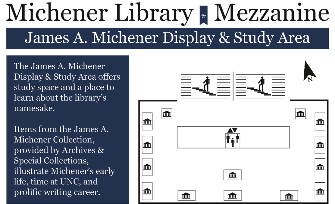 Map of Michener Library mezzanine