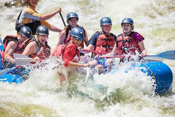 Outdoor pursuits connection water rafting
