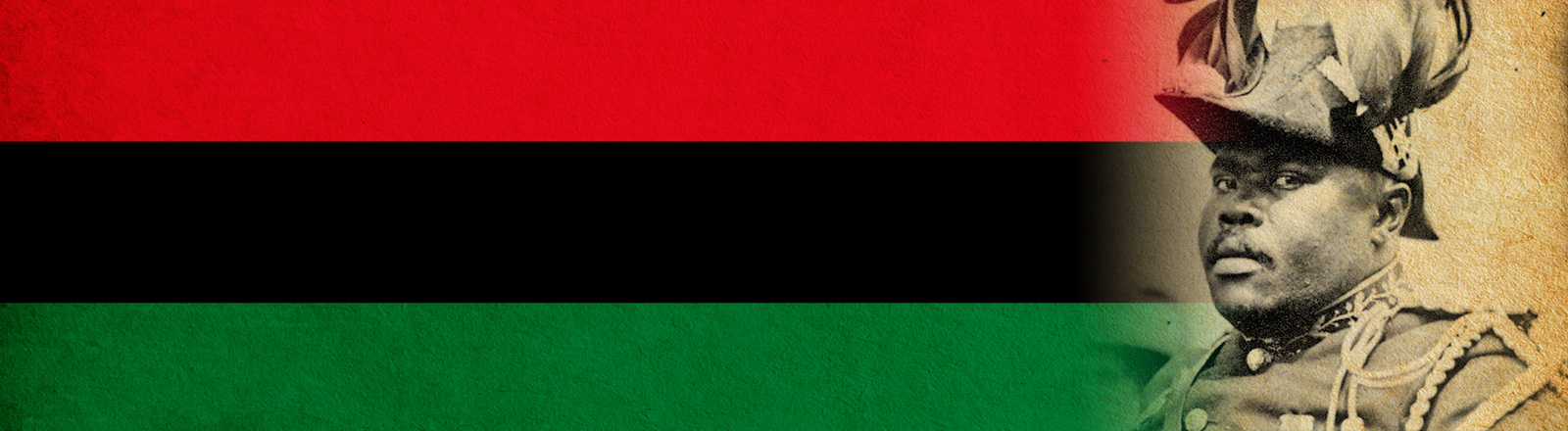 african flag and Marcus Garvey