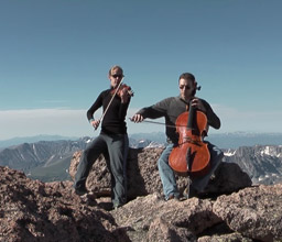 Two people playing
