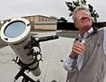 Professor Dick Dietz with telescope