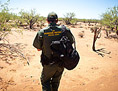 U.S. Border Patrol Agent in desert