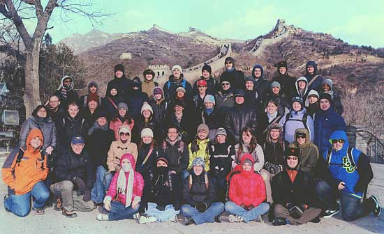 UNC Wind Ensemble at Great Wall of China