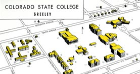 1950 map of campus