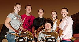 UNC pep band members