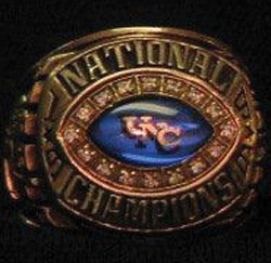 1996 UNC national championship ring