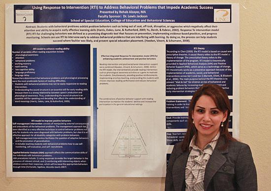 UNC student Rehab Al-zayer