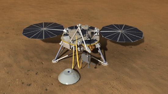 Artist's rendering of Mars lander