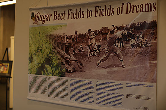 sign explaining baseball exhibit
