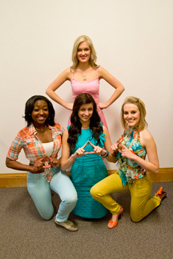 cast members from UNC's production of Legally Blonde
