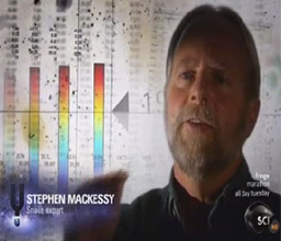 Screen shot of Professor Stephen Mackessy from TV program