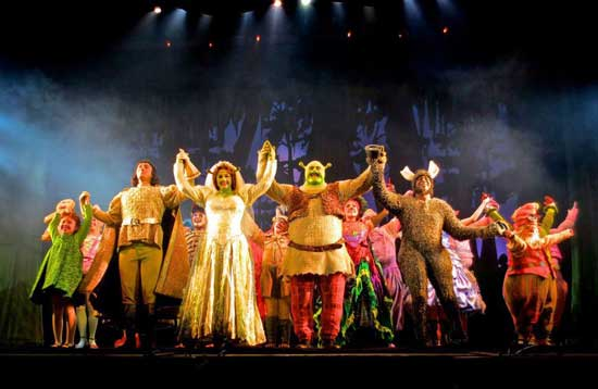 The cast of Shrek: The Musical