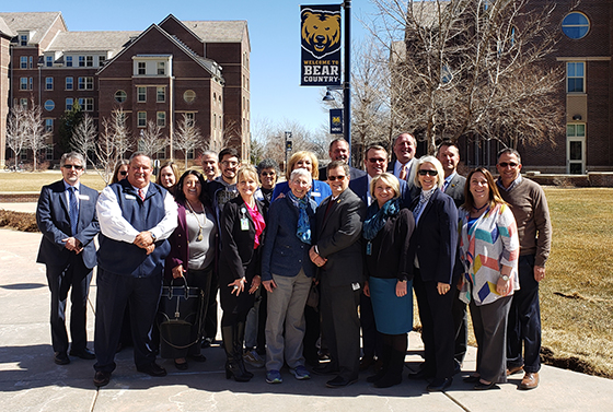 CDHE Executive Director tours campus - group photo