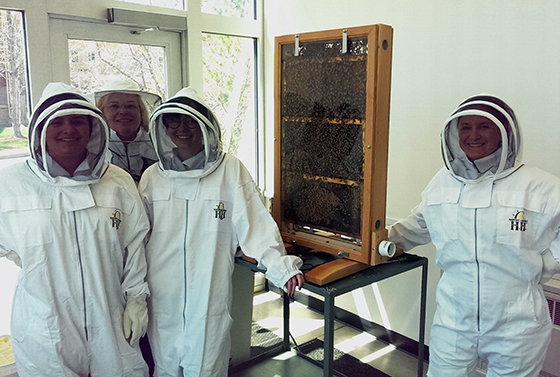 Beehive installed in Ross Hall
