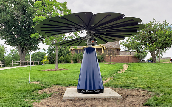 Solar Flower Blooms for First Time on UNC's Campus