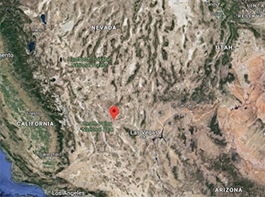 Google Maps image of the area where the Yucca Fountain functioned.