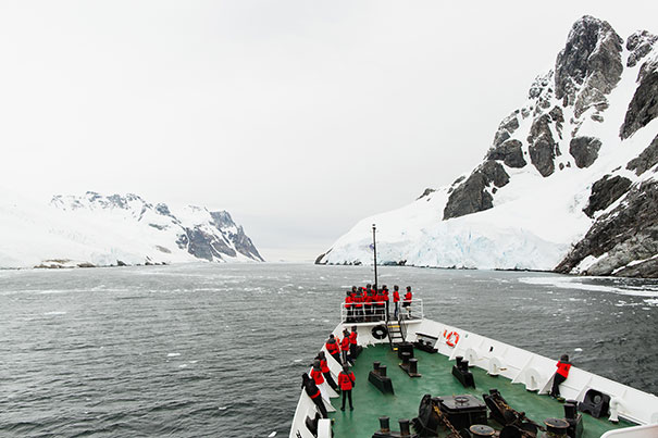 boat in antarctic