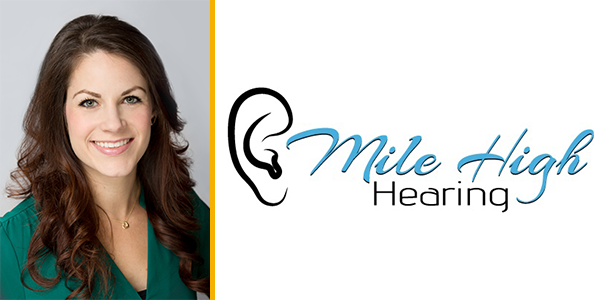 Marin Adkisson and Mile High Hearing logo