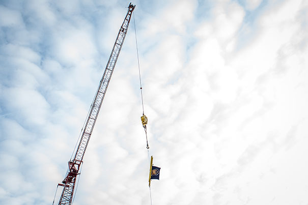 Final beam put in place in Campus Commons building