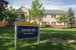 Outside of Cassidy Hall
