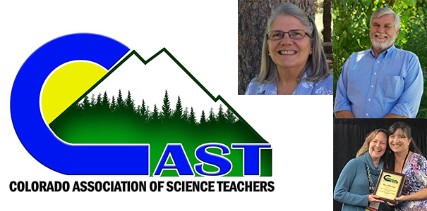 Colorado Association of Science Teachers presented three awards to UNC faculty members