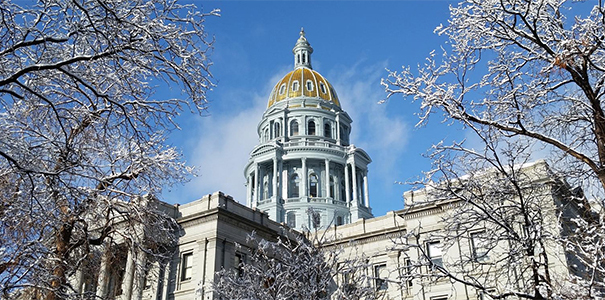 Outside view of the Colorado capitol building