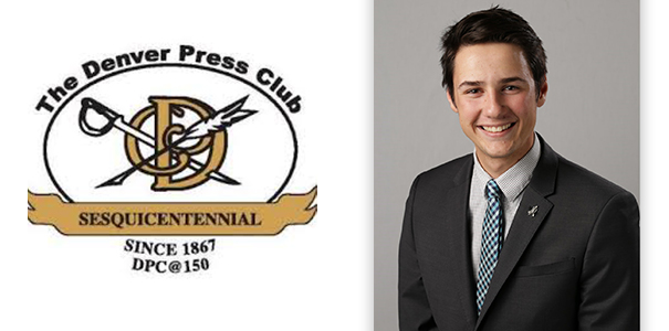 Ben Shumate and the Denver Press Club logo