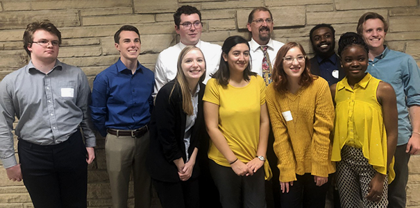 Student and faculty members of the 2019-20 UNC Ethics Bowl teams